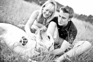Mom and Son playing with the family dog. New Hampshire Family Photographers - Birch Blaze Studios