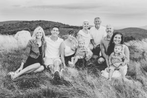 North Conway, NH Family photographers, Birch Blaze Studios. Family groupings, White Mountains of New Hampshire. Mountaintop family session.