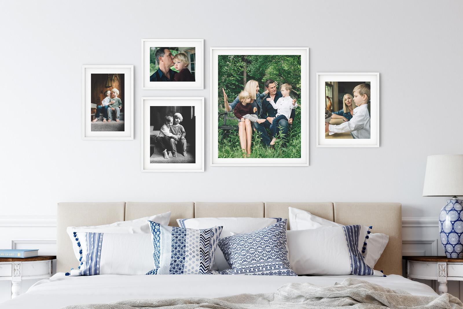 Wall art collection by Birch Blaze Studios, NH Portrait photographers.
