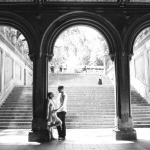 Birch Blaze Studios Central Park Couples' Portrait at Bethesda Terrace, New York City.