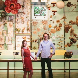 Birchblaze in New York City, couples' portrait at the American Museum of Natural History.